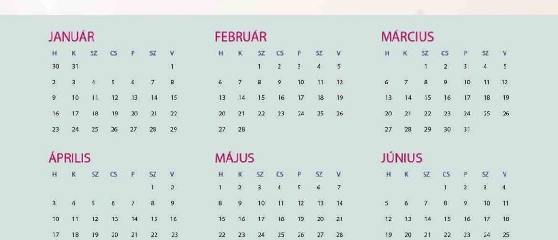 letölthető éves naptár