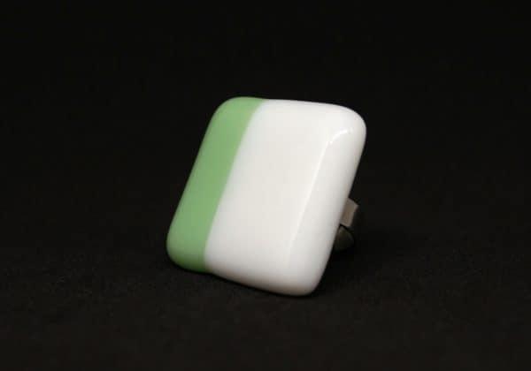 Nyíri Andrea simple giant duo fehér-menta gyűrű