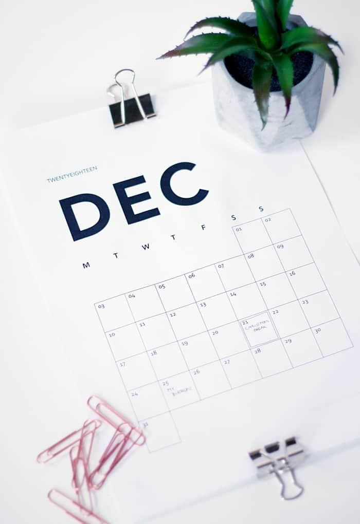 Nyíri Andrea nyomtatható naptár